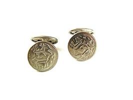 Edwardian / Art Deco Silvertone Cufflinks 42117 - $22.76