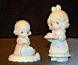 Precious Figurines Moments 2 Pieces AA-191819 Vintage Collectible image 5