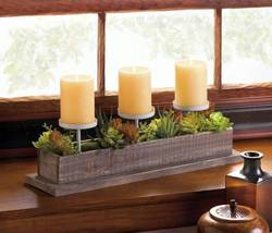 10017835 Accent Plus Wood N Greenery Candleholder - $36.89