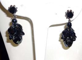 Vtg Signed Vendome Black Beauty Crystal Chandel... - $35.43
