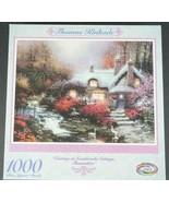 Thomas Kinkade 1000 Piece Puzzle Evening at Swanbrooke Cottage NEW - $26.15