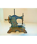 Vintage Toy Sewing Machine Germany Child's Antique Crank Mueller - $98.01