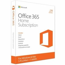 Microsoft Office 365 Home   5 Users   1 Year Subscription   PC/Mac - $155.48