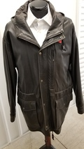 Polo by Ralph Lauren Hooded Leather Field Jacket - $229.00