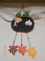 New Halloween decoration hanging pumpkin made of wire & a chalk board w/... - $9.41