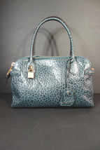 Marc Jacobs Blue Crocodile Printed Leather Handbag Bag Purse Satchel NEW $1581 - $594.87