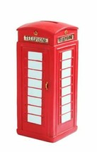 OLD FASHIONED PHONE BOOTH MONEY BANK RESIN RETRO DECOR MEMORABILIA - $26.99