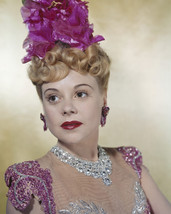 Alice Faye jeweled gown pink flowers in hair earrings 16x20 Canvas - $69.99