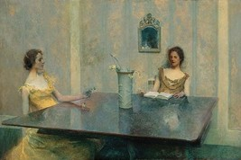 A Reading by Thomas Wilmer Dewing - Art Print - $19.99+