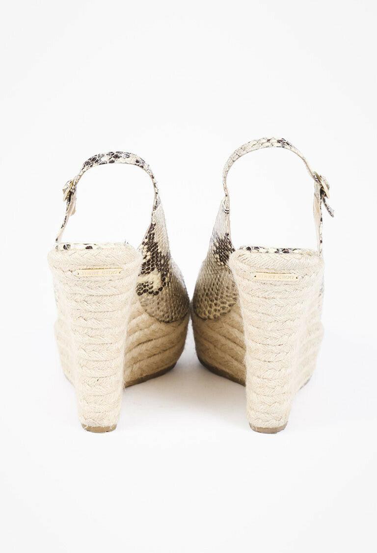Jimmy Choo Polar Snakeskin Espadrille Sandals SZ 40 image 3