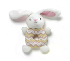 "GUND  White Bunny Baby Rattle Approx. 8"" x 4"" - New with Tags - $8.41"