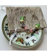 European Style Beads Lampwork Fish Footprints Cross Charm Silver Bracele... - £13.31 GBP