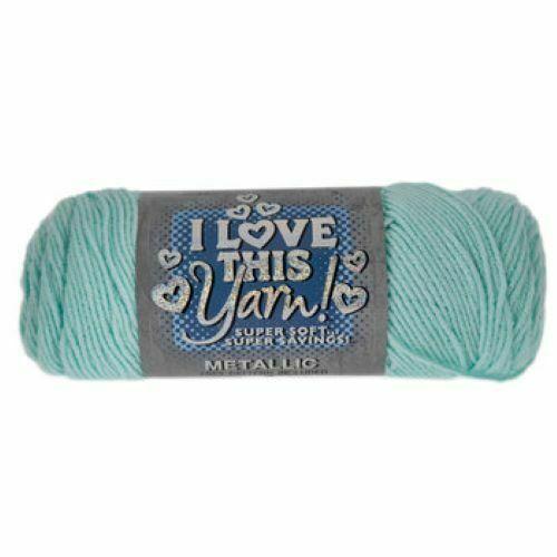 I Love This Yarn Metallic in Aqua Sparkle #1515907