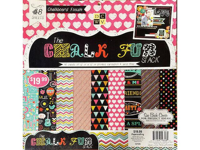 DCWV 12x12 Chalk Fun Cardstock Paper Pad #CP-005-00037