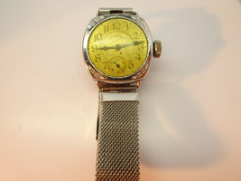 VINTAGE INGERSOLL WIRE LUG TRENCH WATCH WITH MESH BAND FOR RESTORATION - $111.27
