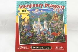Imaginary Dragons Jigsaw Puzzle 100 Pieces Castles Folk Art Eric Dowdle NEW - $12.13