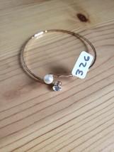 Paparazzi Bracelet(New)Gold W/ Pearl & Clear Gem 326 - $7.69