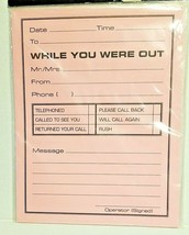 While You Were Out Message Pad Large Jumbo 11x8.5 Over The Hill Eye Dext... - $11.87