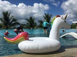 "Big Unicorn Inflatable Ride On Floats Pool Raft Swim Tube for Adults 81.5"" 207cm image 3"