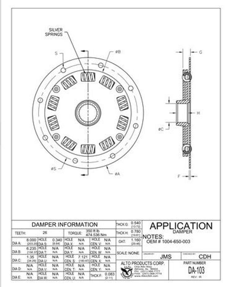 V-Drive Hurth 630 Marine Transmission Master Rebuilding Kit with Filter