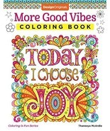 More Good Vibes Coloring Book (Coloring is Fun) (Design Originals) 32 Be... - $6.92