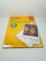 "Kodak 8.5"" X 11"" Inkjet Photo Greeting Card Paper 20 Card Envelope NEW Sealed - $10.88"