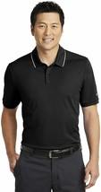 Men's Nike Dri-FIT Edge Tipped Golf Polo, AA1849 010 Multi Sizes Black/White - $49.95