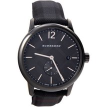 Burberry Men's BU10010 Black Check Stamped Round Dial Watch - $486.56