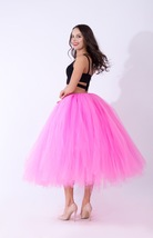 Women Puffy Tutu Skirt Drawstring High Waist Long Tulle Skirt Petticoat One Size image 3