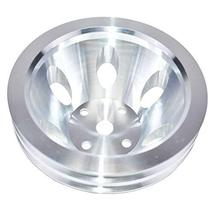 A-Team Performance Double-Groove Aluminum Long Water Pump Pulley Compatible With
