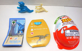 Kinder Joy Jurassic World Fallen Kingdom Blue Velociraptor Minifigure New - $10.99