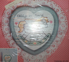 Rocking Horse Heart Shaped  Frame New Berlin Counted Cross Stitch Kit 30... - $21.41