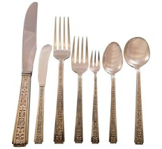 Chased Classic by Lunt Sterling Silver Flatware Set for 12 Service 94 pcs Dinner - $6,750.00