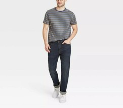 Goodfellow & Co Men's XXL Blue Stripe Stretch Short Sleeve Crew Neck T-S... - $19.99