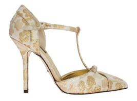 Dolce & Gabbana Women Gold Floral Brocade Pumps EU39/US8.5 - $233.62