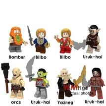 8pcs/set The Lord of the Rings Hobbit Bombur Bilbo Uruk-hai Azog Orc Minifigures - $12.50