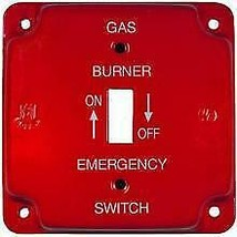 Morris Products 83497 Emergency Metal Switch Plates 4 In. Raised Gas - $17.93