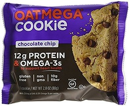 Oatmega Grass Fed Whey Protein Cookies 12 Packs (Chocolate Chip) - $36.62