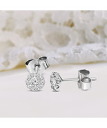 925 S/s 1/4 CT Lab Grown Diamond stud Earring for women I1-GH Quality fo... - $101.99