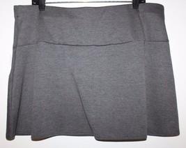 "Gap NWT Women's XL Gray Ponte Knit Fit & Flare Short 15.5"" Skirt Flippy ... - $41.03"