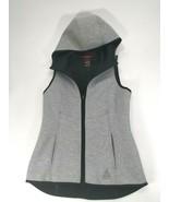GERRY Women's Hooded Vest Sleeveless Jacket Small Heather Grey Small - $16.95