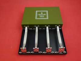 Vendome by Christofle Silverplate Knife Rests Never Used Set of 4 in Box - $359.00