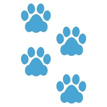 LiteMark 3 Inch Ice Blue Dog Paw Prints - Pack of 48 - $27.95