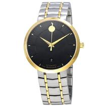 Movado 1881 Black Dial Two-tone Stainless Steel Men's Authentic Watch - £740.45 GBP