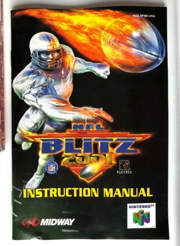☆ NFL Blitz 2001 (Nintendo 64 2000) AUTHENTIC N64 COMPLETE in Box Game ☆