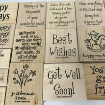 Stampin Up Rubber Stamps Lot of 20 Sayings Quotes  - $29.99