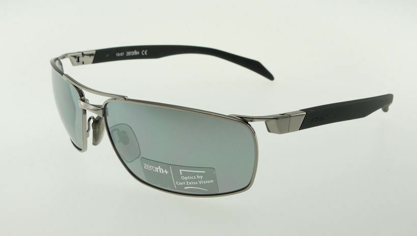 Primary image for ZERORH+ XAUS Gunmetal Black / Grey Flash Mirror Sunglasses RH781S-02 Carl Zeiss