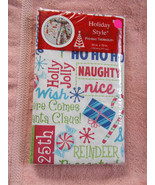"Festive Christmas Sayings Tablecloth 52""x70"" Holiday Style Holly Jolly, ... - $10.88"