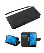 For Motorola MOTO E6 Hybrid Leather Wallet Clip Card Pouch Stand Case Co... - $8.79