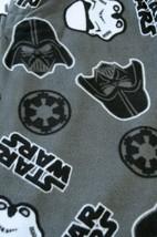 Star Wars Mens Sleep Pants Size M Fleece Lounge Grey Pajamas One Button Fly - $9.88